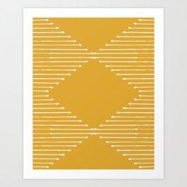 Geo / Yellow Art Print