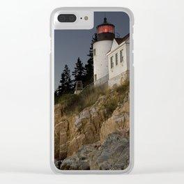 Bass Harbor Head Lighthouse Acadia National Park Clear iPhone Case