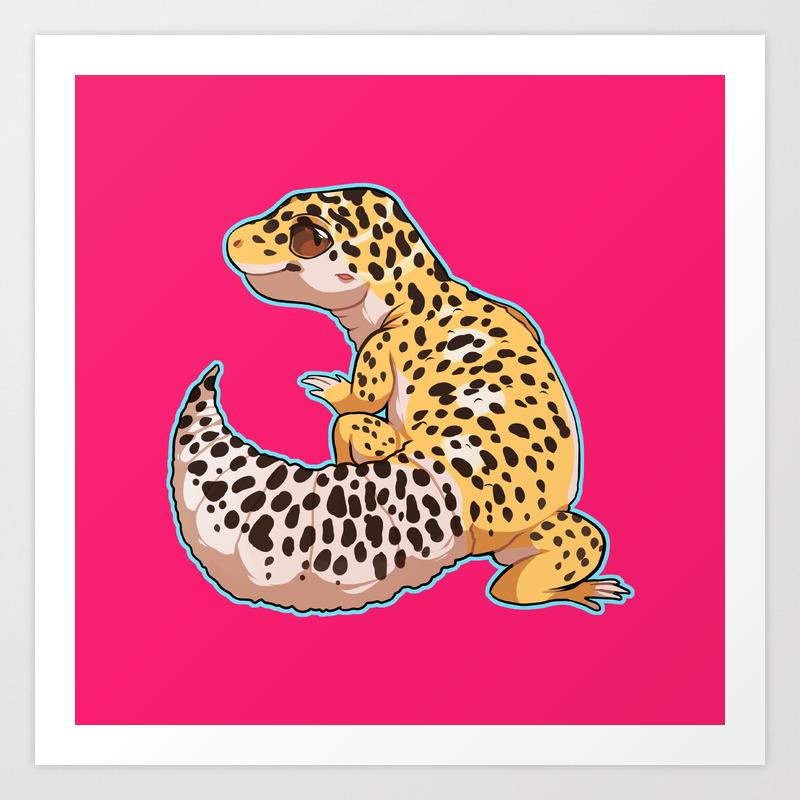 Leopard Gecko Art Print Home Decor Wall Art Poster