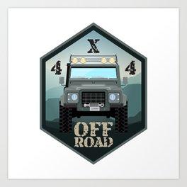 Off road car 4x4 Art Print