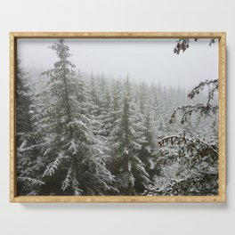 Frosty Forest Serving Tray