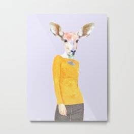 Fashionable Antelope Illustration Metal Print