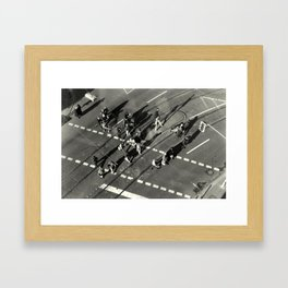 """March over intersection"" Framed Art Print"