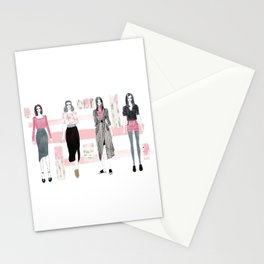 Pink Fashionary Stationery Cards
