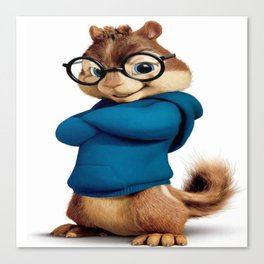 Simon the smartest chipmunk Canvas Print