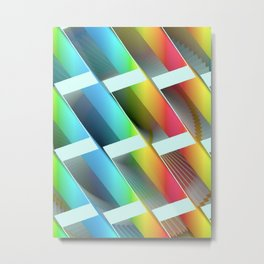 Geometric Wave #2 - Repeat Pattern Modular Synth Artwork Metal Print