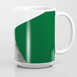 Concrete Festive Green White Coffee Mug
