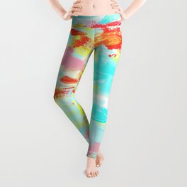 See You - abstract expressionism floral painting modern art Leggings