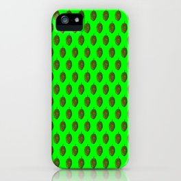 Hops Lime Pattern iPhone Case