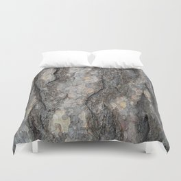 pine tree bark - scale pattern Duvet Cover