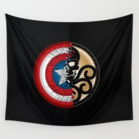 shield Wall Tapestries featuring BROKEN SHIELD by Raisya