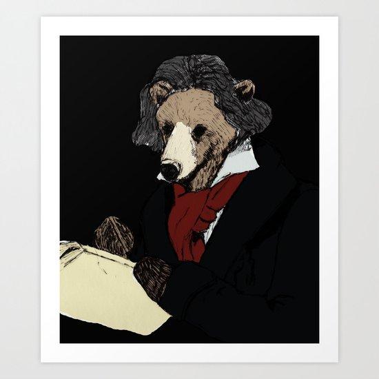 Bearthoven Art Print