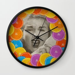 Color Chaos Collection -- Citrus Muss Wall Clock