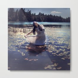 Lily-Pad Queen Metal Print
