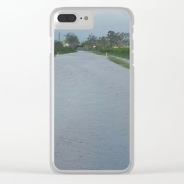 Flooded Road, Sugar Cane Clear iPhone Case