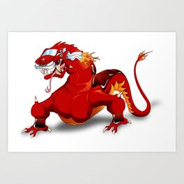 Dracar (Dragon Car) Art Print