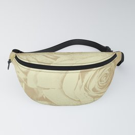 Roses in vintage style with texture Fanny Pack