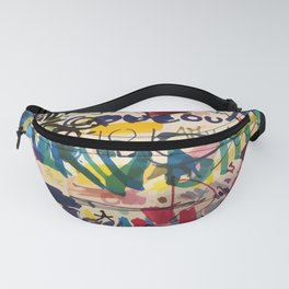 Urban Graffiti Paper Street Art Fanny Pack