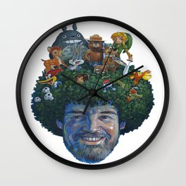 Bob Ross Wall Clock