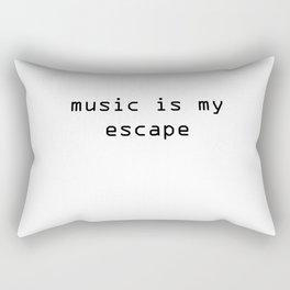 music is my escape Rectangular Pillow