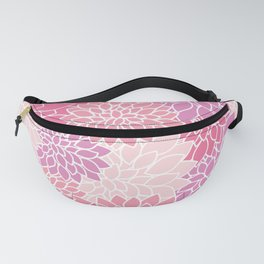 Dahlia Flowers, Petals, Blossoms - Pink Purple Fanny Pack