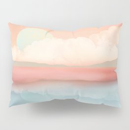 Mint Moon Beach Pillow Sham