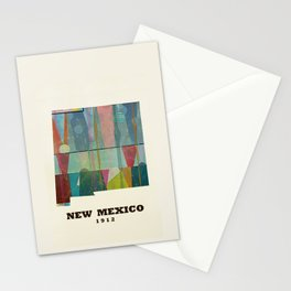 new mexico map modern Stationery Cards
