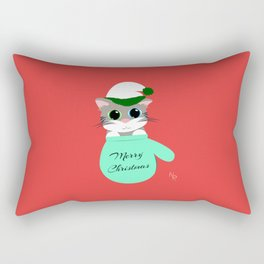Kitten in a Mitten Rectangular Pillow