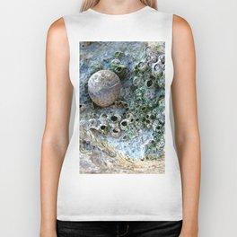 Nacre rock with sea snail Biker Tank