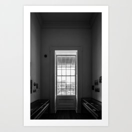 The window in a narrow room. Art Print