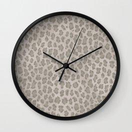 Vintage grange pastel color leopard print Wall Clock