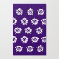 pentagram Canvas Prints featuring Pentagram by Fandom GoodieZ