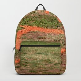 Orange Soccer Corner Backpack