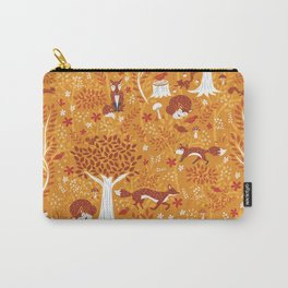 Foxes in a Forest of Fall Trees Carry-All Pouch