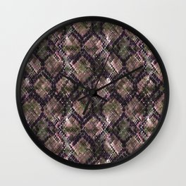 The pattern of snake skin. Wall Clock