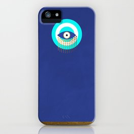 Blue Evil Eye tears of protection iPhone Case