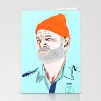 zissou Stationery Cards featuring Doc Zissou by The Art Warriors