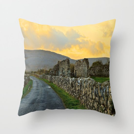 The Road Back to Dublin Throw Pillow