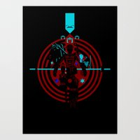 tron Art Prints featuring Tron by Florey