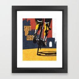 Retro Tour de France Cycling Illustration Poster: Shut Up Legs Framed Art Print