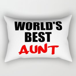 worlds best aunt funny sayings and logos Rectangular Pillow