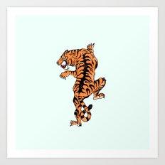 Tiger style Art Print