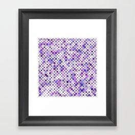 Purple Squared Framed Art Print