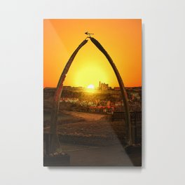 Whitby Whalebones Sunrise  Metal Print