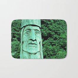 Whispering Giants, Native American Sculpture, Wood Carving, Portrait Bath Mat