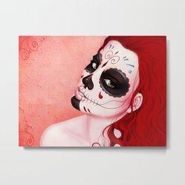 La Muerta Portrait Metal Print