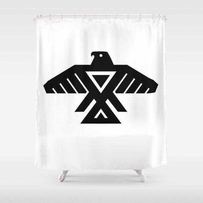 Native American Thunderbird Symbol Flag Shower Curtain By