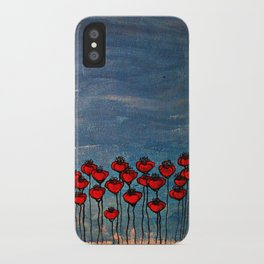 Sea of poppies. iPhone Case