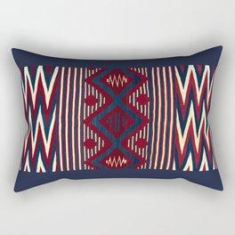 Wavy Navy Rectangular Pillow