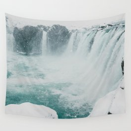Goðafoss | Edge of the Arctic Wall Tapestry